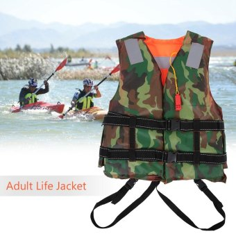 Adult Lifesaving Reversible Life Jacket Buoyancy Aid FlotationDevice Work Vest Clothing Swimming Marine Life Jackets SafetySurvival Suit Outdoor Water Sport Swimming Drifting Fishing - intl
