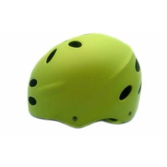 Aidy 17 Air Vents Nutshell Bike/Skateboard/Longboard Protective Helmet (Fluorescent Yellow)