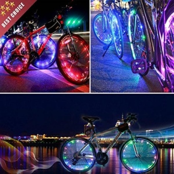 AIKELIDA Bike Wheel Lights - Waterproof LED Bicycle Wheel Spoke Light - Bike Rim Lights - Best Christmas Gift & Birthday Present for Boys and Girls. Easy Install (1 Tire Pack) - intl
