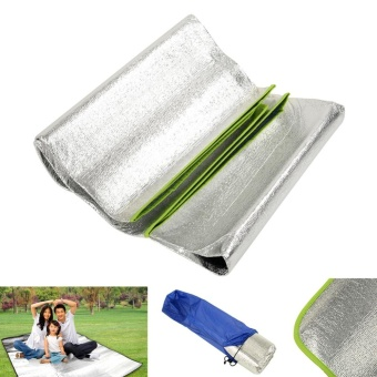 Aluminum Foil Outdoor Party Picnic Grass Blanket Camping Sleeping Mat Cushion - intl