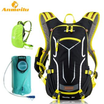 ANMEILU 18L Waterproof Camping Backpack Outdoor Sports ClimbingRiding Cycling Bag Sports Rucksacks Knapsack Camelback + 2L WaterBag Bladder, Yellow Price Philippines