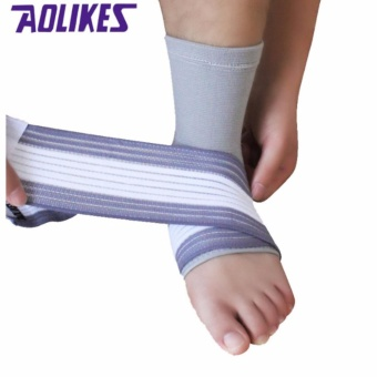 AOLIKES 2Pcs Lot Professional Sports Ankle Strain Wraps Bandages Elastic Ankle Support Brace Protector For Fitness Running - intl