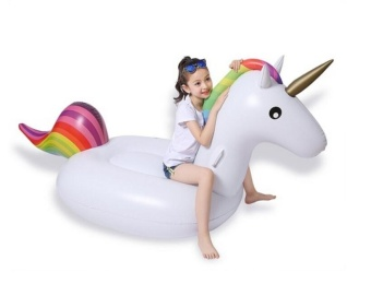 Baby Chair Seat Unicorn Shaped Swimming Ring Safe Soft Inflatable Baby Swim Float Ring(yellow) - intl