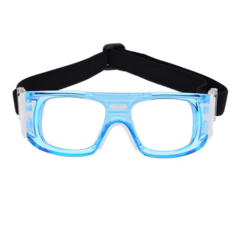 Basketball Soccer Sports Protective Eyewear Goggles Eye Safety Glasses with Case Blue - INTL