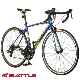 Battle Windrider-300 700C x 480 14-Speed Shimano Tourney Alloy RoadBike (Satin Metallic Midnight Blue/Neon Yellow)