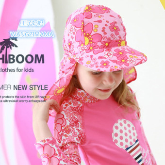 Beach sun hat cloak swim cap sun protection hat