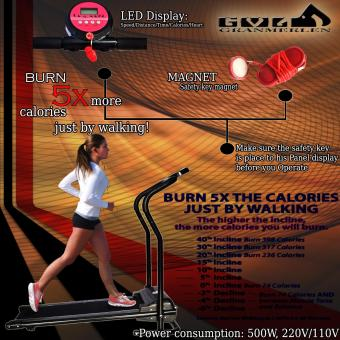 Best Selling Auto Safety Magnet Switch Motorized Electric FoldableHome Treadmill