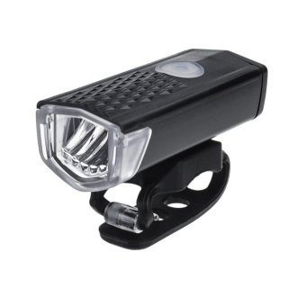 Bicycle Front Light USB Rechargeable Bike Light LED Bicycle Head Light (Black)