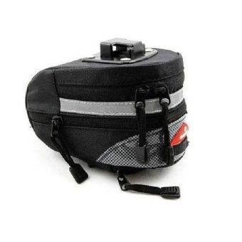 Bicycle Saddle Under Seat Quick Release Scaleable Rear Bag #0137(Black)