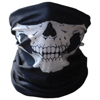 Bicycle Ski Skull Half Face Mask Ghost Scarf Multi Use Neck WarmerCOD Black