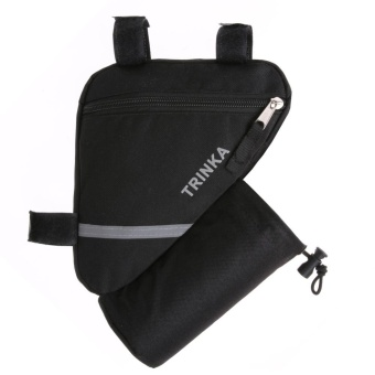 Bicycle Triangle Front Tube Saddle Bike Bag Water Bottle Pocket Reflective - intl