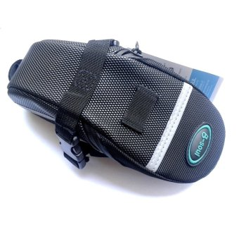 Bicycle Waterproof Saddle Under Seat Stash Bike Tail Bag Acessories #0089 (Black)