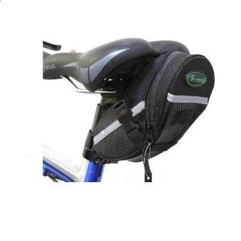Bicycle Waterproof Saddle Under Seat Stash Bike Tail Bag Acessories #0089 (Black) - 2
