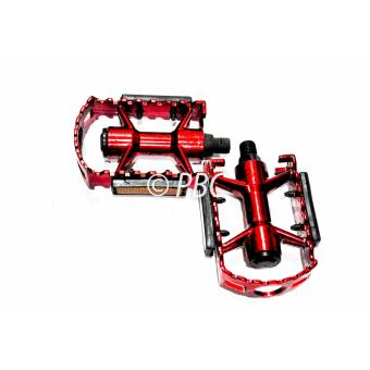 BICYLE PEDAL ALUMINUM V07 MOUNTAIN BIKE W/ REFLECTOR RED