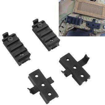 Big Family: Military Airsoft Paintball Helmet Rail Accessories Parts Clamp Rack Black