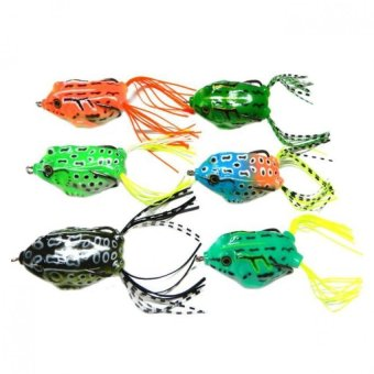 Bigskyie 6pcs Frog Snakeheads Bait Fishing Lures Bass Soft BaitMulticolor