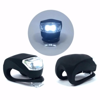 Bike Bicycle Motorcycle Safety Warning Fog Rear Tail SiliconUltraBright LED Waterproof Lights (1 Pair)