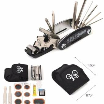 Bike Motorcycle Repair Tool Kit Belt Pouch with Tire Patch #0195