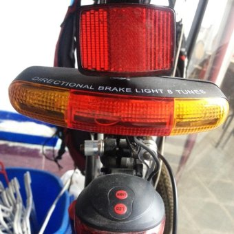 Bike Turn Signal Bicycle Light Brake Tail Cycling Light ElectricHorn 3 In 1 - intl