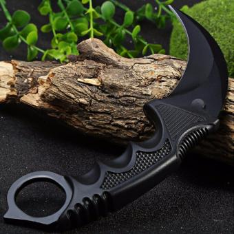 Black Blade Stainless Karambit Knife for Self Defense, Camping,hunting, hiking, adventure, and home use (Black) - 5