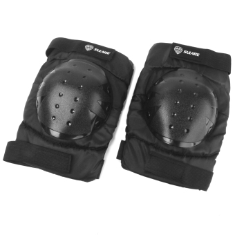 Black Motocross Racing Knee Guard Pad Motorcycle Off-Road Protection Gear