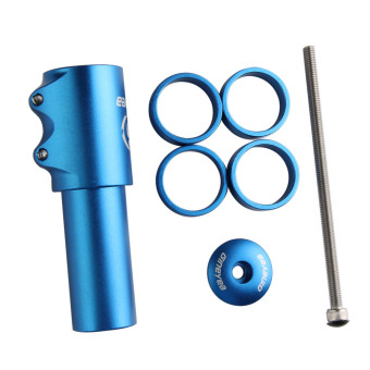 Blue Bike Handlebar Stem Up Extender Adaptor 117mm - INTL - picture 2