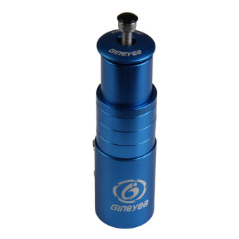 Blue Bike Handlebar Stem Up Extender Adaptor 117mm - INTL