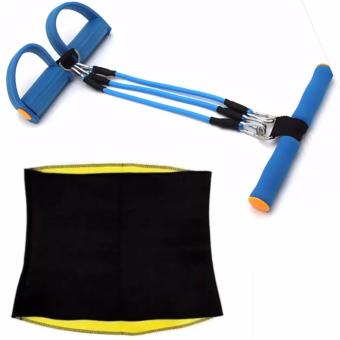 Body Resistance Training Bands Pull Up Body Trimmer Pedal Excercise(Color May vary) With Hot Shaper Womens Shapewear for Belly