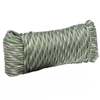 BolehDeals 100ft Outdoor Survival 9 Strand Paracord Parachute Cord Rope - Camouflage