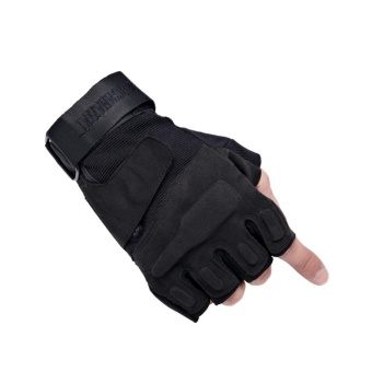 Breathable Tactical Half Finger Gloves Cycling Motorcycle Glove Outdoor Sports Racing Sports Military Mittens Green - intl Price Philippines