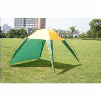Breeze Beach Sun Shade Shelter Triangle Tent Deluxe 3-4 Person