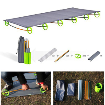BRS Outdoor Ultralight Folding Portable Aluminium alloy CotsCamping Bed - 2