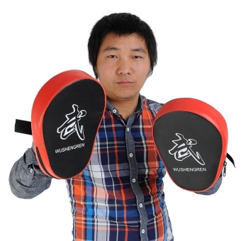 Buy 1 Get 1 Free ! 2X Boxing Mitt MMA Target Hook Jab Focus Punch Pad Training Glove Karate - intl - 2