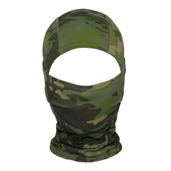 Camouflage Hood Ninja Outdoor Cycling Motorcycle Hunting Military Tactical Helmet Liner Gear Full Face Mask (Jungle Camouflage) - intl - 2