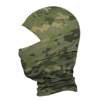 Camouflage Hood Ninja Outdoor Cycling Motorcycle Hunting Military Tactical Helmet Liner Gear Full Face Mask (Jungle Camouflage) - intl - 4