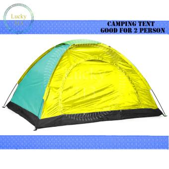 Camping Tent With Carry Bag Good For 2 Person (Multicolor)