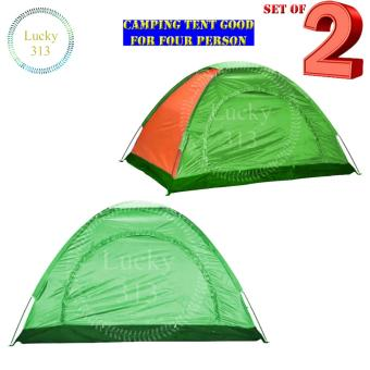 Camping Tent With Carry Bag Good For 4 Person SET OF TWO