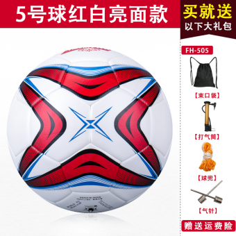 Champions League Leather black and white adult young student's ball football