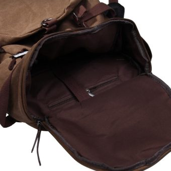 Chic Canvas Man Backpack Rucksack Travel Outdoor Bag Duffle LargeCoffee - 4