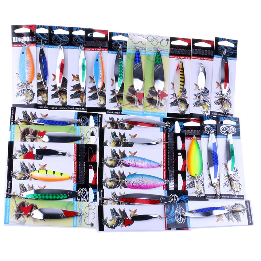 Cocotina 1pcs Metal Minnow Fishing Lures Bass CrankBait Spoon Crank Bait Tackle Hook .