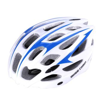 Comfortable Ultralight EPS Bike Sagety Helmet For Road MountainBike (White and Blue) - intl