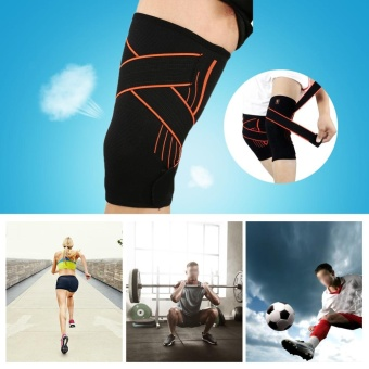 Compression Non-Slip Adjustable Knee Support Brace ProtectiveSleeve Wrap (XL) - intl