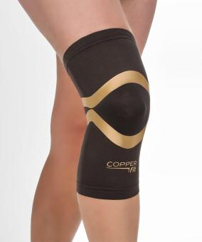 Copper Fit Pro Series Compression Knee Sleeve Black With CopperTrim X Large