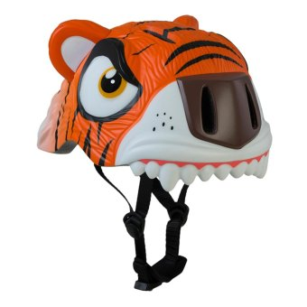 Crazy Safety Skating and Cycling Helmet for Kids Tiger 911 (Orange/White)