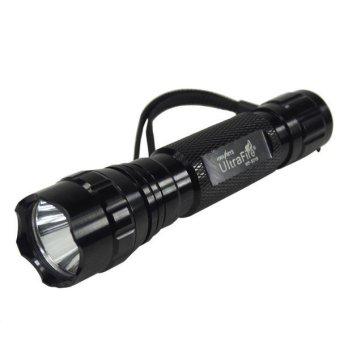 CREE XPE Q5 Blue Light LED Tactical Flashlight 501B Torch Pressure Switch Mount Hunting Rifle Gun Light Lamp Black