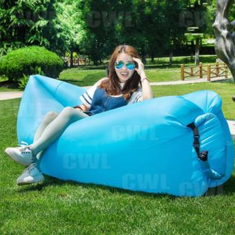 CWL Fast Inflatable Hangout Lounge Chair Air Sofa Bag Sleeping Bed(Blue)