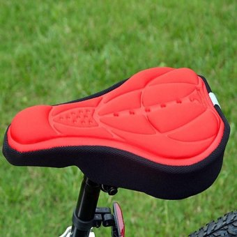 Cycling Bike 3D Comfortable Silicone Gel Pad Seat Saddle Cover SoftCushion - intl