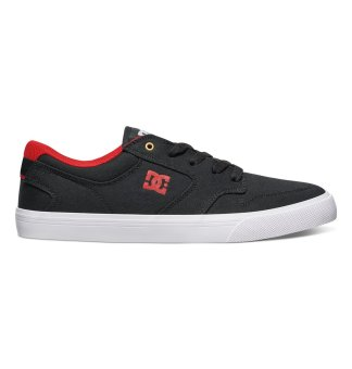 DC Men's Argosy Vulcanized Tx Low Cut (Black Red)