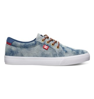 DC Men's Council Tx Se Low Cut (Indigo Bleached Vintage)