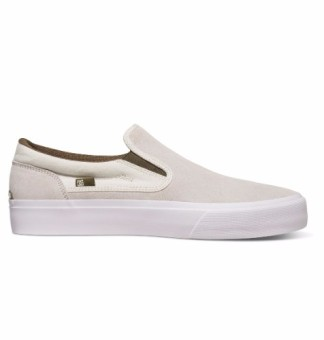 DC Men's Trase Slip-On S Low Cut (White)